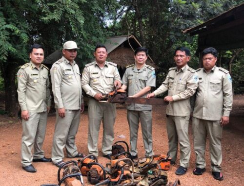 Tumring REDD+ project handed over the confiscated tools and equipment to local FA offices