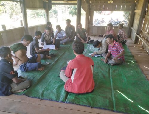 Project management unit met and solved emerging issues for community forestry groups